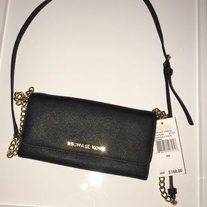 Jet Set Michael Kors wallet on a chain